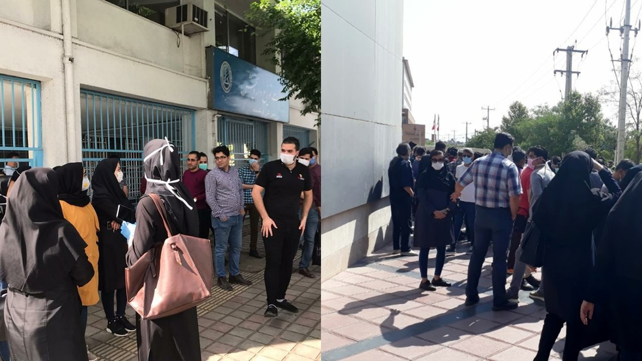Nurses Protest Across Iran Against Mistreatment by the Regime amid COVID-19 Pandemic