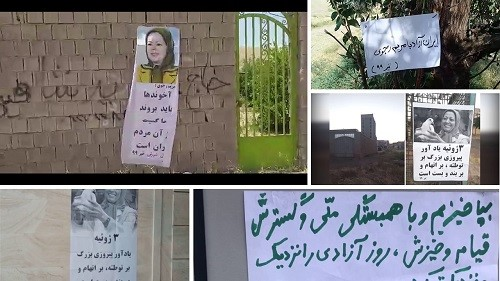 Iran: Messages and calls by the President-elect and the Leader of the Iranian Resistance distributed in Tehran, nationwide