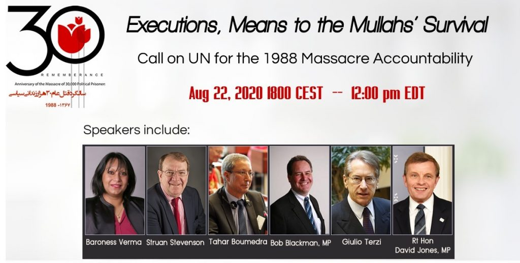 Live Report: International Webinar on Iran's 1988 Massacre
