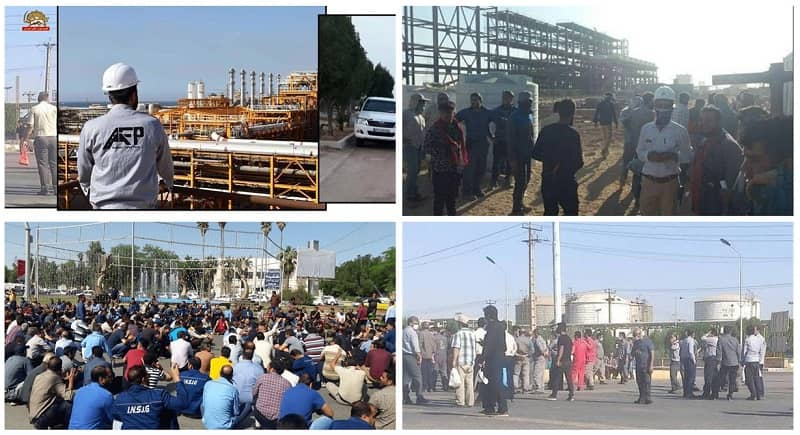 Iran: The Fourth Week of Oil, Gas and Petrochemical Workers Strike in 55 Centers in 24 Cities of 12 Provinces