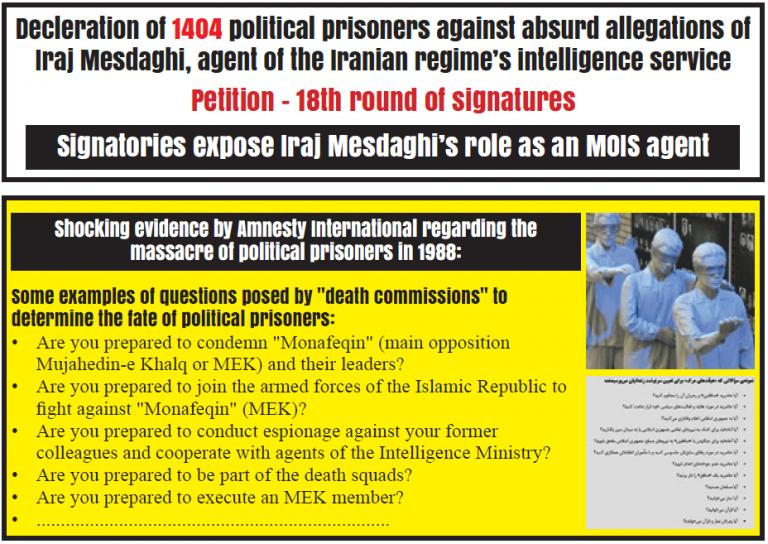 Iranian Intelligence Operative Posing as a Former Political Prisoner