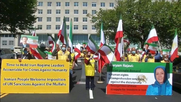 Iranians and MEK Supporters in U.S. and Europe Welcome Sanctions on Iran's Regime