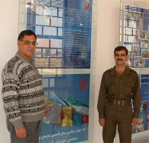 Ali Saremi (right) visiting his son Akbar Saremi (left)