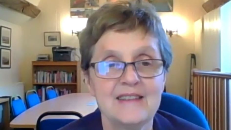 Former Conservative MEP Anthea McIntyre, addresses the NCRI webinar