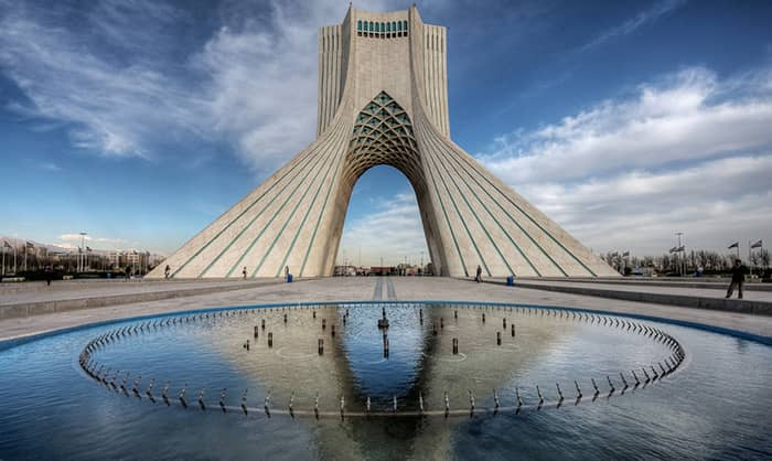 Azadi Square is a mainly green city square in Tehran, Iran. It hosts at its centerpiece the Azadi Tower. Tehran Province suffers from a high coronavirus spread so that the coronavirus death toll in this province has reached 30,751