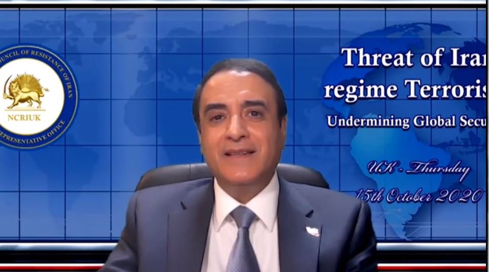 Hossein Abedini addresses the NCRI webinar