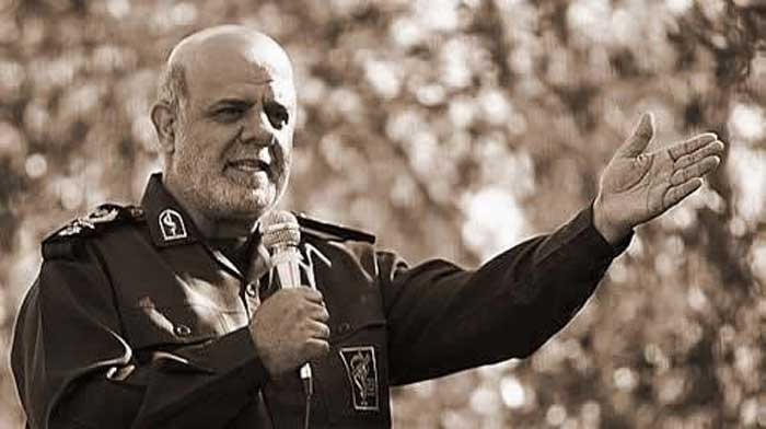 Iraj Masjedi in IRGC uniform