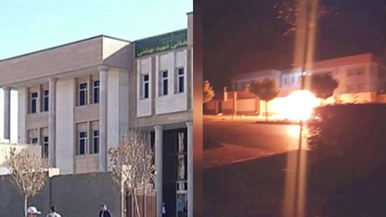 defiant youth target Beheshti Judicial Complex in Karaj