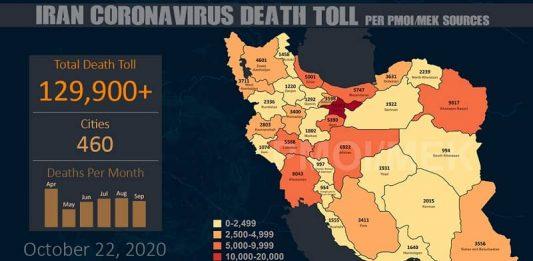Iran's coronavirus update by MEK - October 22, 2020