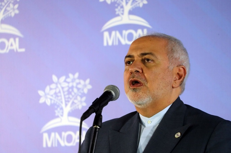 """In July 2019, the United States imposed sanctions on Iranian Foreign Minister Mohammad Javad Zarif, identifying him as an """"illegitimate spokesperson for Iran,"""" which is State Department-speak for declaring him a terrorist. File Photo by Miguel Gutierrez/EPA-EFE"""