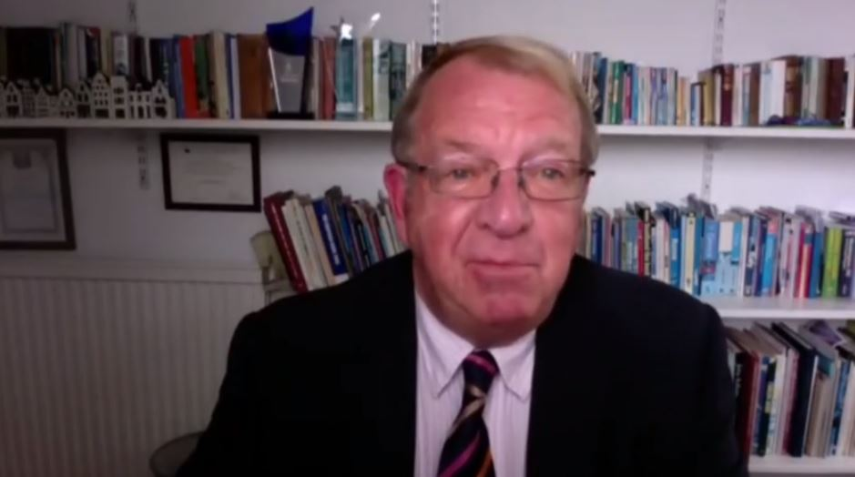 Former MEP Struan Stevenson addresses the NCRI webinar