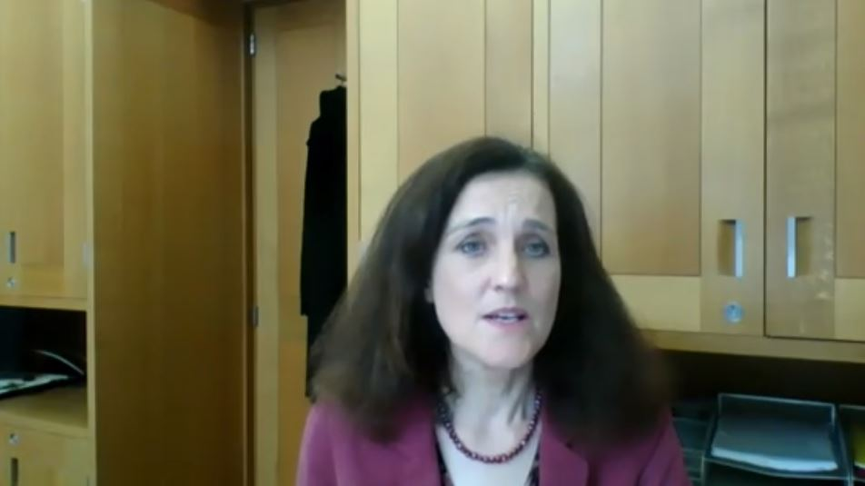 Rt. Hon. Theresa Villiers, MP, addresses the NCRI webinar
