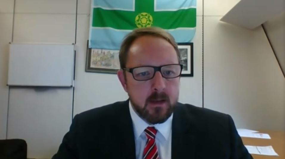 Toby Perkins, MP, addresses the NCRI webinar