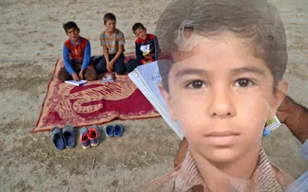 Mohammad Mousavizadeh, the 11-year-old student from Bushehr