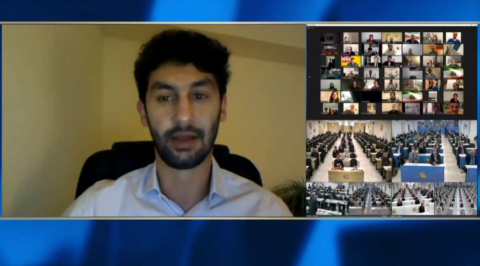 Ali Fatemi speaks at the online conference