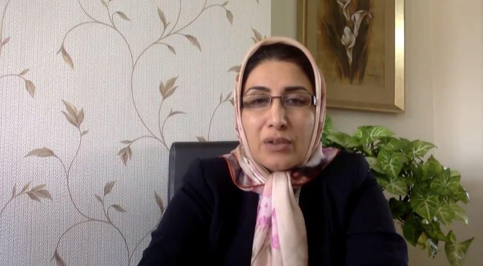 Arezu Eshraghi speaks at the online conference