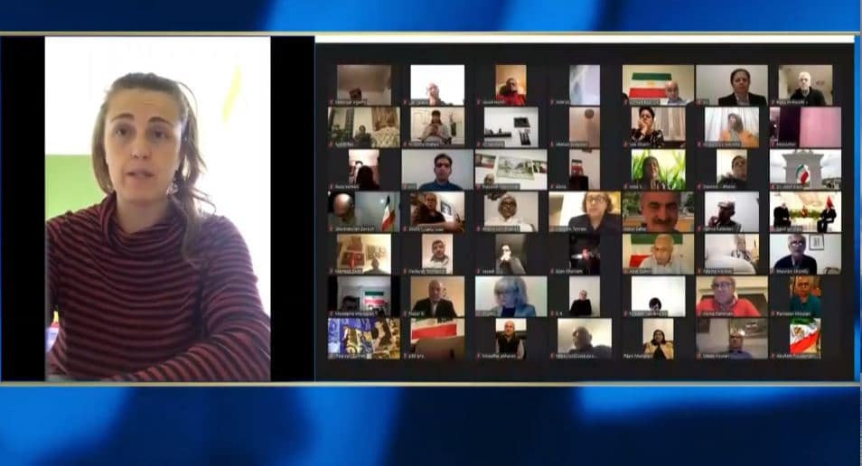Chiara Gribaudo speaks at the online conference