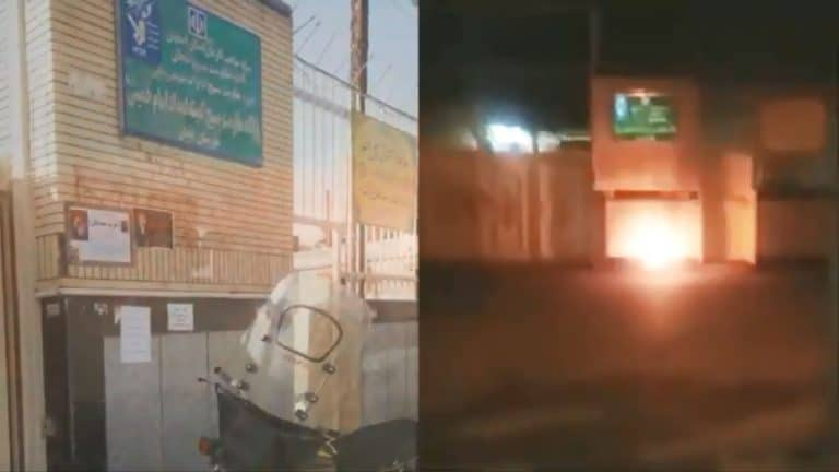 Iran: Defiant Youth Target Several Regime Centers of Suppression, Theft in Tehran, Isfahan, Mashhad, and Khorramabad on Anniversary of November 2019 Uprising