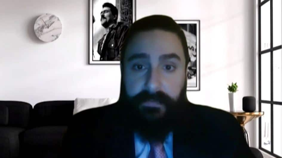 Fouad Eini speaks at the online conference