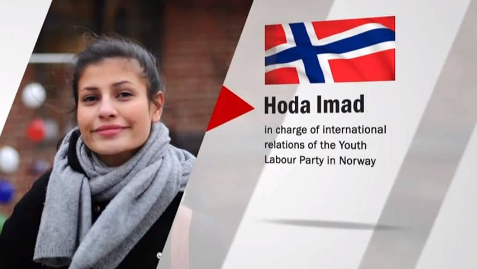 Hoda Imad speaks at the online conference