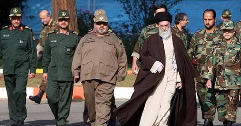 Ali Khamenei and IRGC's top commanders