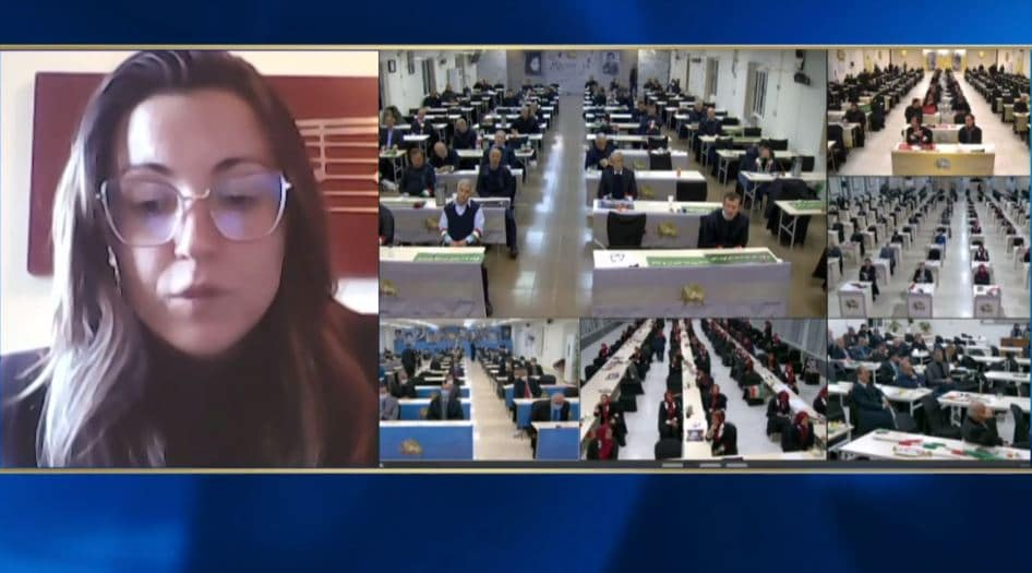 Marica Montemaggi speaks at the online conference