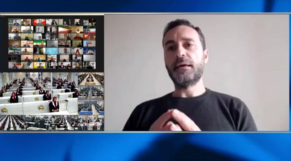 Mario Barbaro speaks at the online conference