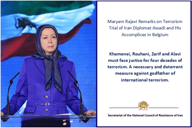 Maryam Rajavi Remarks on Terrorism Trial of Iran Diplomat Assadi and His Accomplices in Belgium