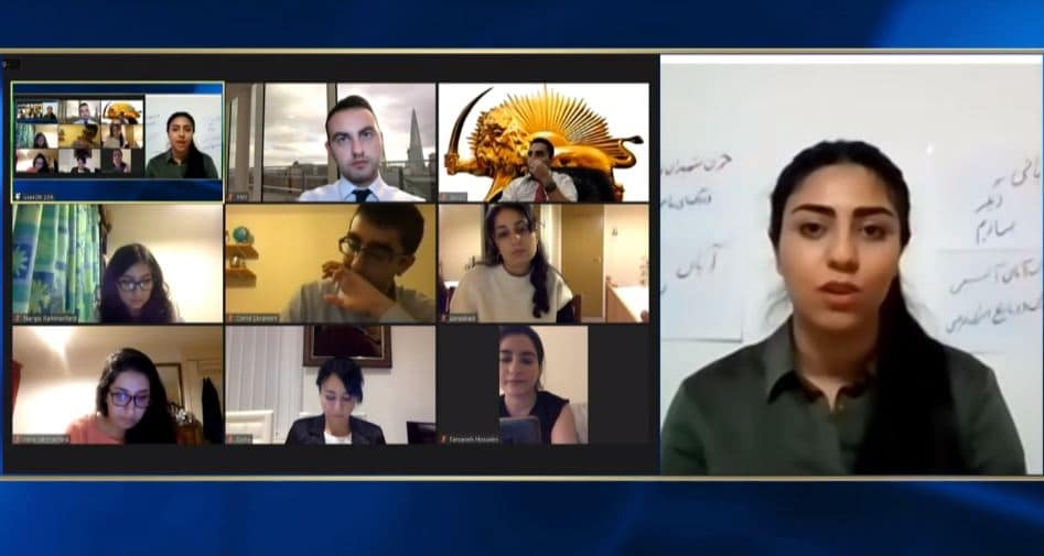 Maryam Khalaghdoost speaks at the online conference