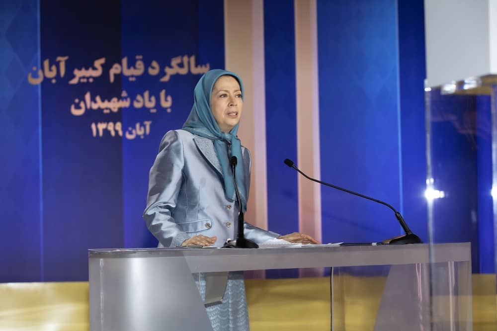 Maryam Rajavi, president-elect of the NCRI, speaks at the online conference