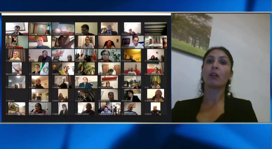 Maryam Sadeghpour speaks at the online conference
