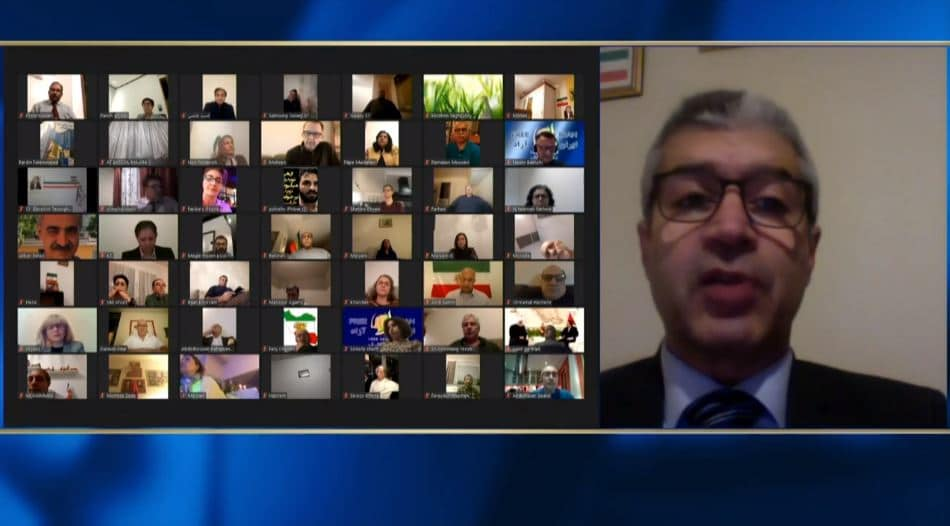 Omid Behrooz speaks at the online conference