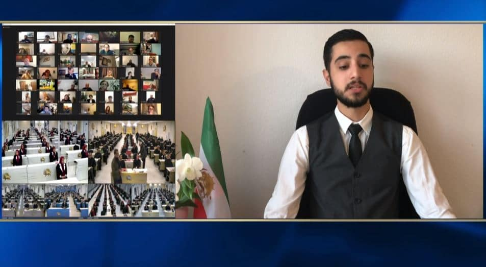 Parsa Zolfaghari speaks at the online conference