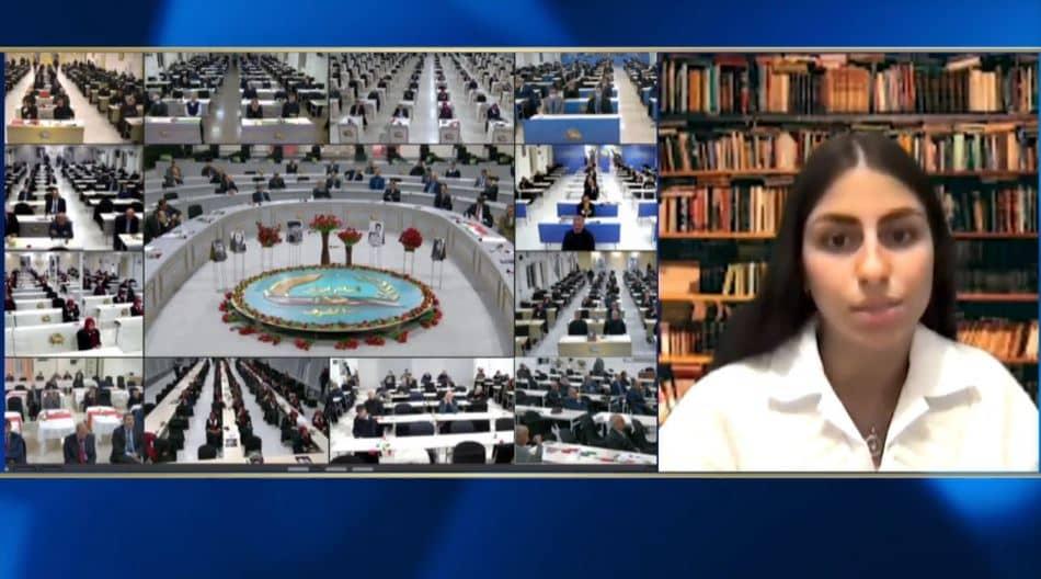 Parya Garmroudi speaks at the online conference