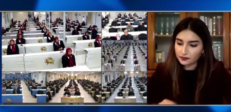 Samira Ardalan speaks at the online conference