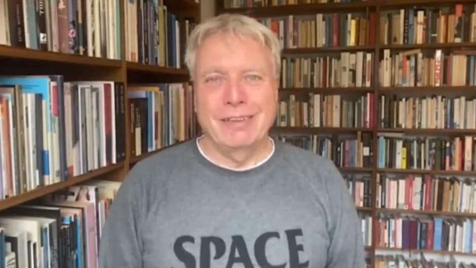 Uffe Elbaek speaks at the online conference