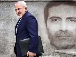Iranian Foreign Minister Javad Zarif (left), Iranian diplomat-terrorist Assadollah Assadi (right)