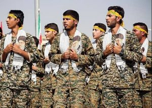 Basij forces (The Organization for Mobilization of the Oppressed), a paramilitary volunteer militia established in Iran