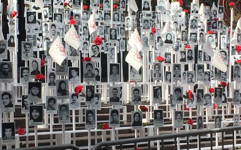Pictures of political prisoners who were massacred in 1988 in Iran.