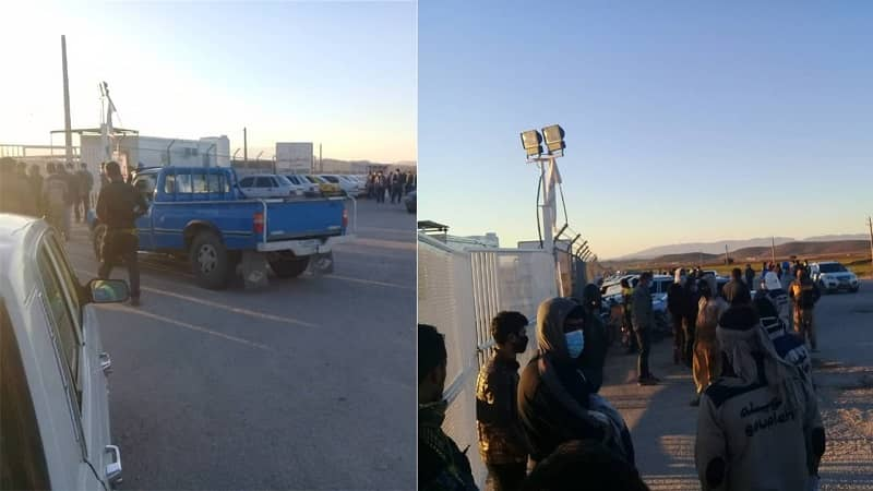 Dehdasht Petrochemical complex workers hold a protest - December 22