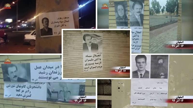 "Isfahan - Aktivitas Unit Perlawanan dan pendukung MEK - Massoud Rajavi: ""Membubarkan Pengawal Revolusi sangat diperlukan untuk kemenangan rakyat Iran"" - 4 Desember hingga 7 Desember 2020"