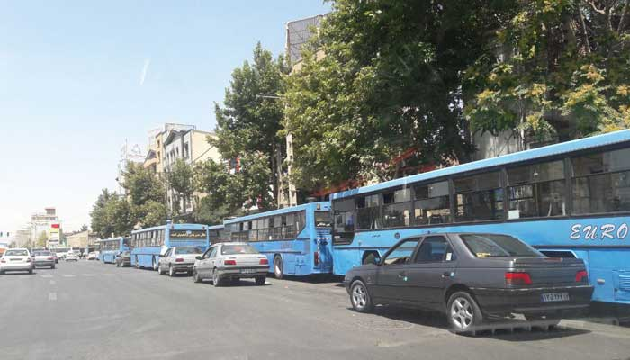 Bus drives in Urmia, in West Azerbaijan province in northwest Iran, protest - December 21