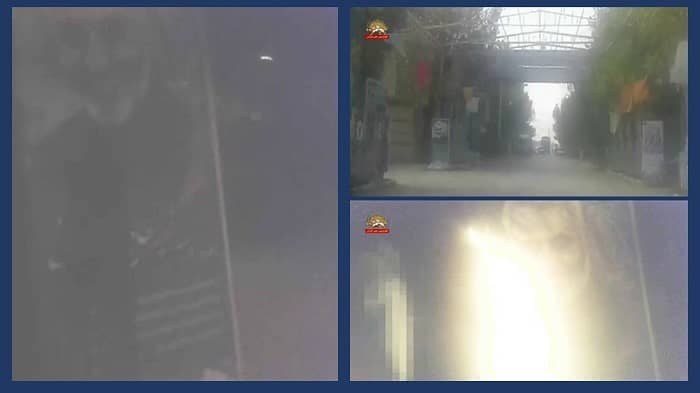 Mahmoudabad (Isfahan) – Torching the banners of Khamenei and Qassem Soleimani – December 26, 2020