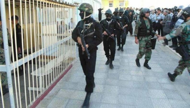 IRGC forces in an Iranian prison (file photo)