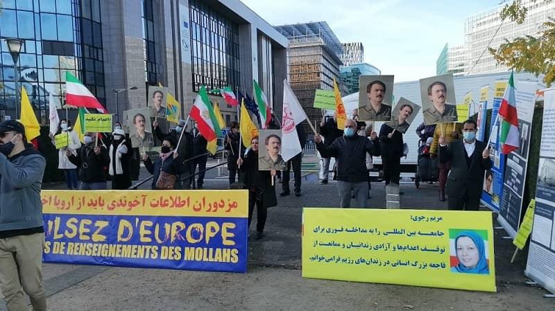 Pendukung MEK dan anggota diaspora Iran di Brussels mengadakan rapat umum - 16 Desember 2020
