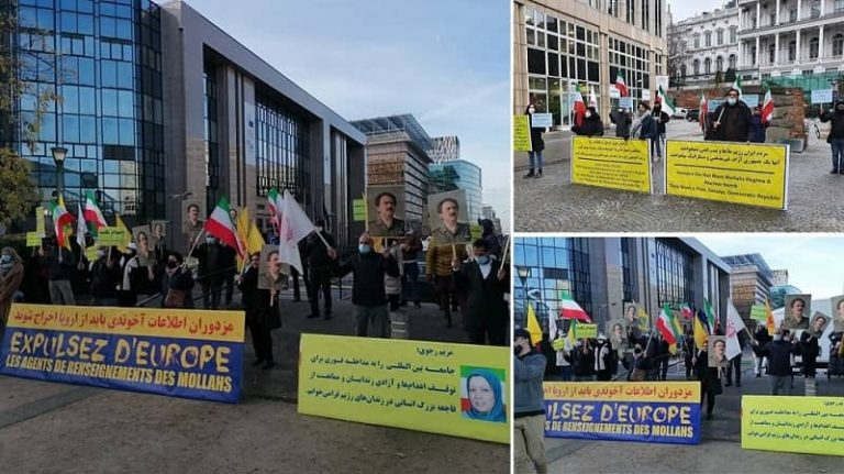 Iranians, MEK Supporters Protest in Vienna Simultaneous With JCPOA Joint Commission With Mullahs' Terrorist Regime