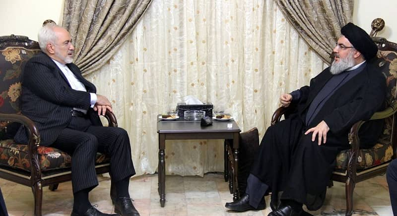 Zarif meets Lebanese Hezbollah leader Hassan Nasrallah