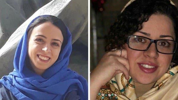 Najmeh Vahedi, left, and Hoda Amid, right, were sentenced to prison in Iran.