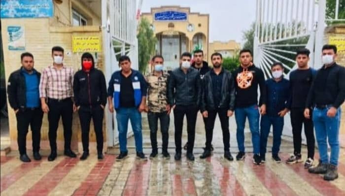Youths of the Shahroi village protest