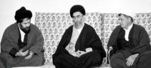 hmad Khomeini (left), Ali Khamene (center)i, Ali Akbar Hashemi Rafsanjani (right)